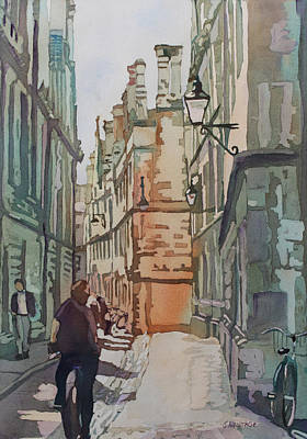 Cobbles Painting - Oxford Lane by Jenny Armitage
