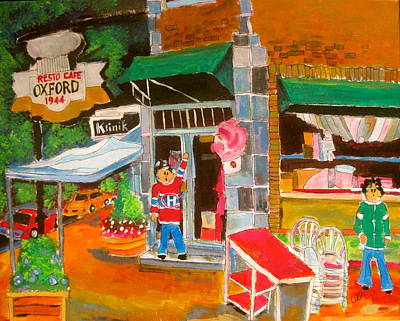 Painting - Oxford Resto Cafe by Michael Litvack
