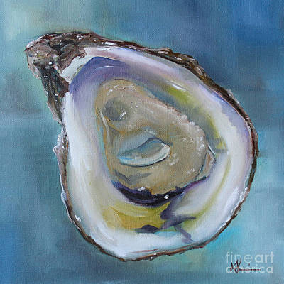 Kristine Painting - Oyster On The Half Shell by Kristine Kainer