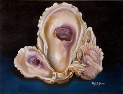 New Orleans Oil Painting - Oyster Shell Study by Phyllis Beiser