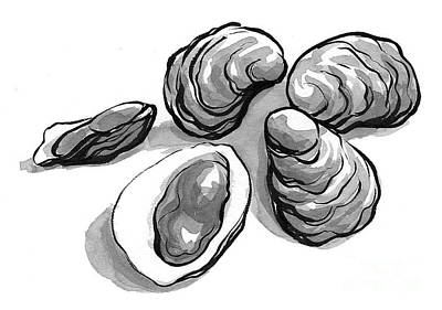 Oysters Print by Laura Gilmore