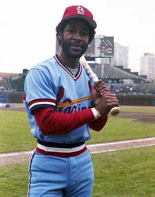 Baseball Uniform Photograph - Ozzie Smith By George Brace by Retro Images Archive
