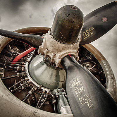 Aluminum Photograph - P-17 Prop by Mike Burgquist