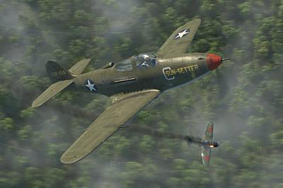 P-39 Airacobra Vs. Zero Print by Robert Perry
