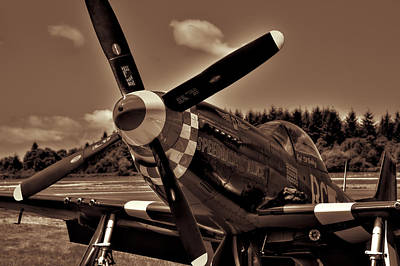 P-51 Mustang Fighter Print by David Patterson