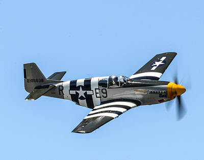 P-51 Mustang Fighter Print by Puget  Exposure