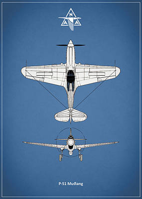 P-51 Photograph - P-51 Mustang by Mark Rogan