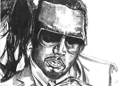 Harlem Drawing - P Diddy by Hiten Mistry