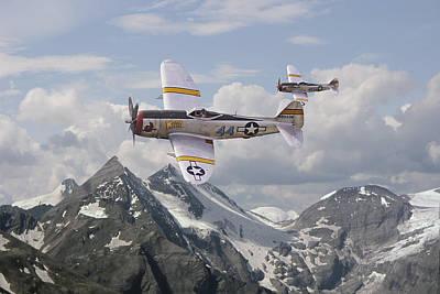 P47 Thunderbolt - 57th Fg Print by Pat Speirs