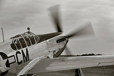 P51 Photograph - P51 Mustang Takeoff Ready by M K  Miller