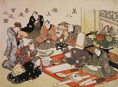 Teapot Painting - P.62-1938 Painting And Calligraphy by Utagawa Kunisada