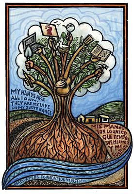 Sustain Mixed Media - My Hands Mis Manos by Ricardo Levins Morales