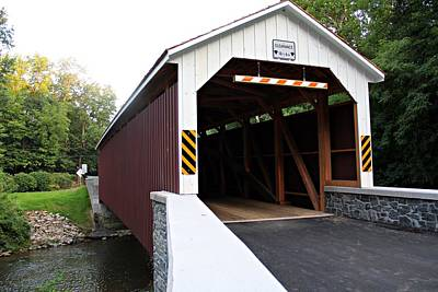 Creek Photograph - Pa Covered Bridge by Timothy Coover