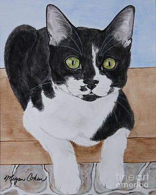 Domestic Short Hair Cat Painting - Pablo The Cat by Megan Cohen