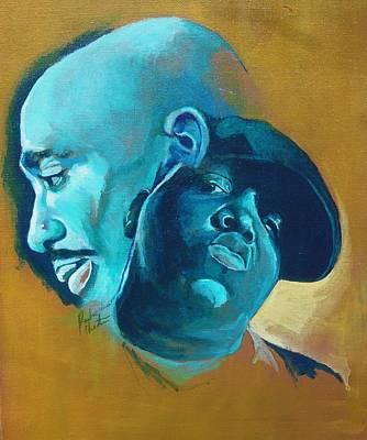 B.i.g Painting - Pac And Big by Reuben Cheatem