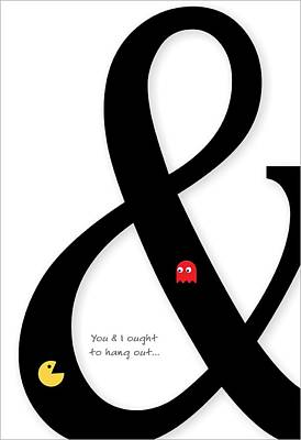 Ampersand Typography Print by Helena Kay