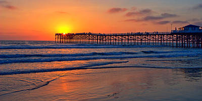 High Dynamic Range Photograph - Pacific Beach Pier - Ex Lrg - Widescreen by Peter Tellone