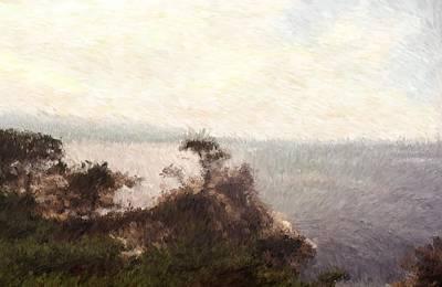 Digital Art - Pacific Coastal Highway From San Jose To Aneheim Los Angeles_impressionist Painting by Asbjorn Lonvig