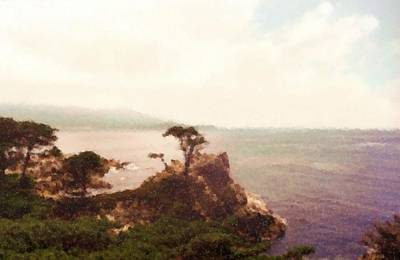 Digital Art - Pacific Coastal Highway From San Jose To Aneheim Los Angeles_painting    by Asbjorn Lonvig