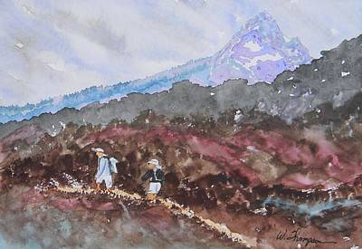 Pacific Crest Trail Painting - Pacific Crest Trail by Warren Thompson