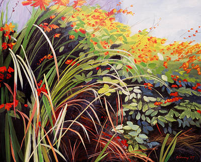 Crocosmia Painting - Pacific Crocosmia by Melody Cleary