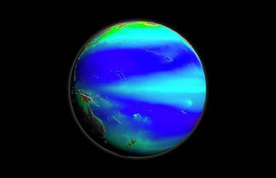 Pacific Phytoplankton Levels Print by Nasa/gsfc-svs/seawifs/geoeye