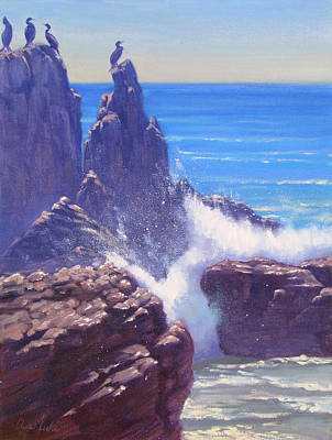 Malibu Painting - Pacific Power by Elena Roche