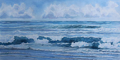 Incoming Tide Painting - Pacific Rhythms  by Jenny Armitage