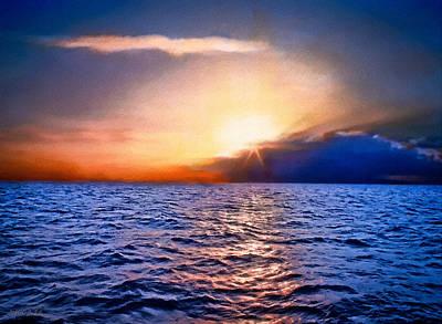 Pacific Sunset Big Sur California Original by Bob and Nadine Johnston