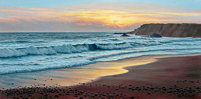 Oregon Painting - Pacific Sunset by Paul Krapf