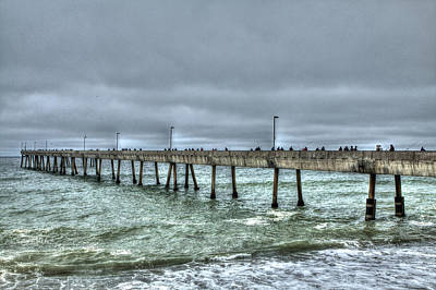 Beaches Photograph - Pacifica Fishing Pier 7 V2 by SC Heffner
