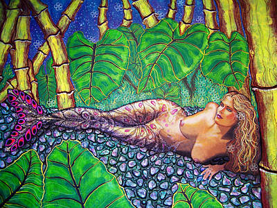 Mermaid Painting - Pacificblue by Debbie Chamberlin