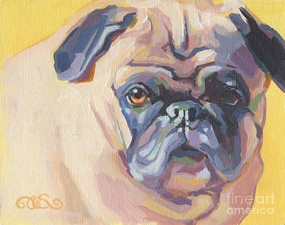 Fawn Pug Painting - Paco Pug by Kimberly Santini