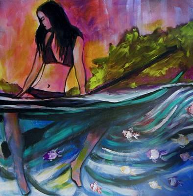 Paddle Love Print by Kimberly Dawn Clayton