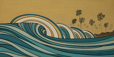 Paddle Out Print by Joe Vickers