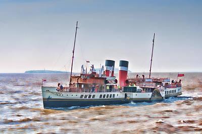 Paddle Steamer Waverley Print by Steve Purnell