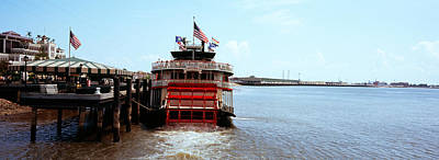 Paddleboat Natchez In A River Print by Panoramic Images