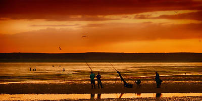 Angling Photograph - Paddlers And Anglers by Sharon Lisa Clarke