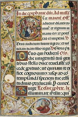 Page With Miniature Depicting Print by Everett