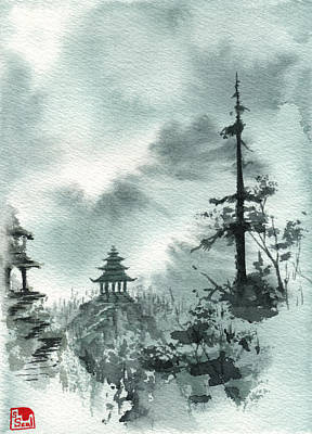 Temple Painting - Pagoda Valley by Sean Seal