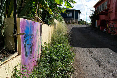 Photograph - Paia Alleyway by Matt Radcliffe
