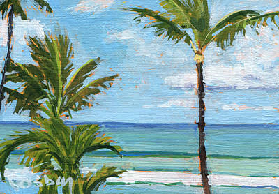 Paia Palms 2 Print by Stacy Vosberg