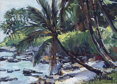 Paia Palms Print by Stacy Vosberg