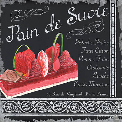 Raspberry Painting - Pain De Sucre by Debbie DeWitt
