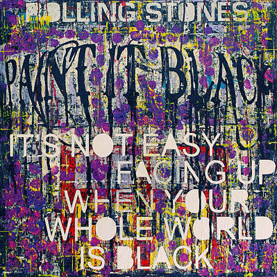 Rollingstone Painting - Paint It Black by Frank Van Meurs
