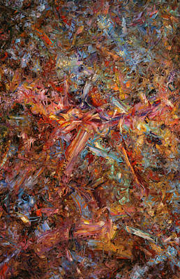 Abstract Expressionism Painting - Paint Number 43 by James W Johnson