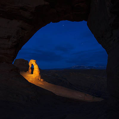 Night Photograph - Painted Arch by Dustin  LeFevre