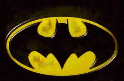 Painted Batman Logo Print by Dan Sproul
