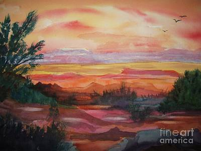 Badlands Painting - Painted Desert II by Ellen Levinson