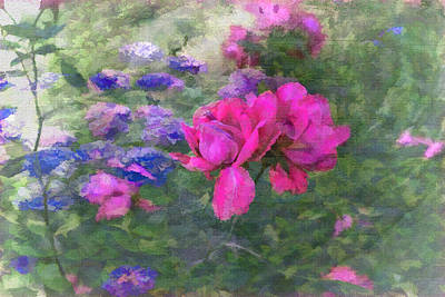Painted Garden Print by Larry Bishop